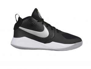 Nike – TEAM HUSTLE D 9 (GS) – BLACK/METALLIC SILVER