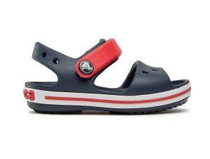 Crocs – CROCBAND SANDAL KIDS – NAVY/RED