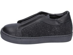 Slip on Holalà sneakers nero pelle camoscio BT374