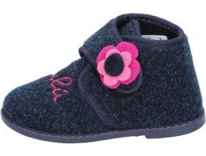 Παντόφλες Lulu pantofole blu tessuto BS29