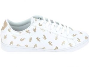 Xαμηλά Sneakers Lacoste Carnaby Evo C Blanc Or [COMPOSITION_COMPLETE]