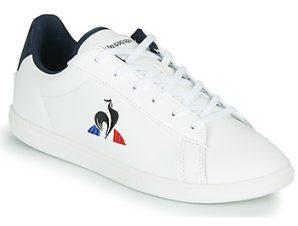 Xαμηλά Sneakers Le Coq Sportif COURTSET GS ΣΤΕΛΕΧΟΣ: Δέρμα και συνθετικό & ΕΠΕΝΔΥΣΗ: Ύφασμα & ΕΣ. ΣΟΛΑ: & ΕΞ. ΣΟΛΑ: Καουτσούκ