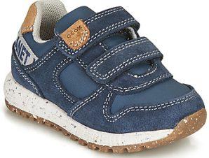 Xαμηλά Sneakers Geox B ALBEN BOY B ΣΤΕΛΕΧΟΣ: Δέρμα / ύφασμα & ΕΠΕΝΔΥΣΗ: Συνθετικό και ύφασμα & ΕΣ. ΣΟΛΑ: Δέρμα & ΕΞ. ΣΟΛΑ: Καουτσούκ
