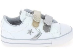 Xαμηλά Sneakers Converse Star Player 2V BB Blanc Argent [COMPOSITION_COMPLETE]