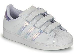 Xαμηλά Sneakers adidas SUPERSTAR CF C ΣΤΕΛΕΧΟΣ: Δέρμα & ΕΠΕΝΔΥΣΗ: Δέρμα / ύφασμα & ΕΣ. ΣΟΛΑ: Ύφασμα & ΕΞ. ΣΟΛΑ: Καουτσούκ