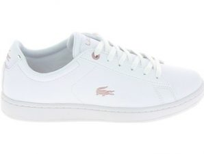 Xαμηλά Sneakers Lacoste Carnaby Evo Jr Blanc Rose [COMPOSITION_COMPLETE]