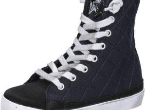 Sneakers 2 Stars sneakers nero tessuto camoscio AD887