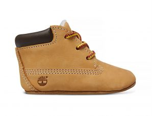 """Timberland βρεφικά δερμάτινα μποτάκια και σκούφος """"Crib Booties and Hat"""" – TB09589R2311 – Κίτρινο"""