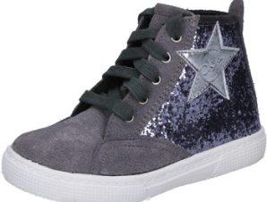 Ψηλά Sneakers Enrico Coveri sneakers grigio glitter camoscio BX839