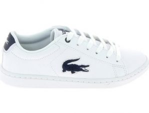 Xαμηλά Sneakers Lacoste Carnaby Evo C Blanc Bleu [COMPOSITION_COMPLETE]