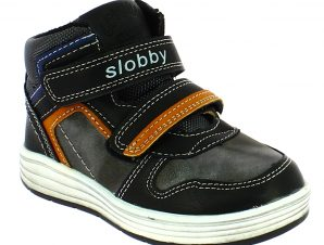 SLOBBY Αγορίστικο Μποτάκι 46-0329-T1 25/30 Μαύρο – Μαύρο – 46-0329-T1 BLACK -SLOBBY-black-25/4/1/74
