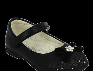IQKIDS Κοριτσίστικη Μπαλαρίνα SILVIA-135 Μαύρο – Μαύρο – SILVIA-135 BLACK-IQKIDS-black-25/4/1/74