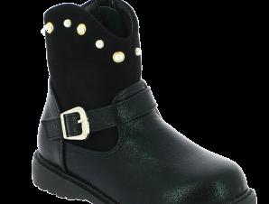 IQKIDS Κοριτσίστικο Μποτάκι LELA-135 Μαύρο – Μαύρο – LELA-135 BLACK-IQKIDS-black-25/4/1/74