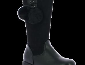 IQKIDS Κοριτσίστικη Μπότα CORINA-135 Μαύρο – Μαύρο – CORINA-135 BLACK-IQKIDS-black-30/4/1/62
