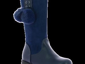 IQKIDS Κοριτσίστικη Μπότα CORINA-135 Μπλε – Μπλε – CORINA-135 NAVY-IQKIDS-blue-30/4/10/62