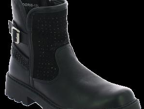 IQKIDS Κοριτσίστικο Μποτάκι DORIS-135 Μαύρο – Μαύρο – DORIS-135 BLACK-IQKIDS-black-33/4/1/65