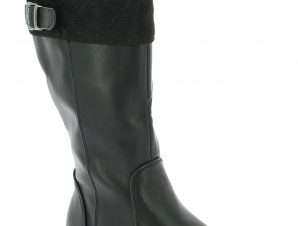 BONINI KIDS Κοριτσίστικη Μπότα BT2731A Μαύρο – Μαύρο – BT2731A BLACK-BONINO KIDS-black-27/4/1/76