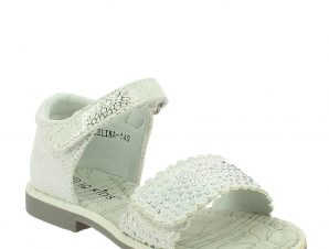IQKIDS Κοριτσίστικο Πέδιλο CELINA-140 Λευκό – Λευκό – CELINA-140 WHITE-IQKIDS-white-24/4/5/73