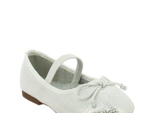 IQKIDS Κοριτσίστικη Μπαλαρίνα BALARINA-140 Λευκό – Λευκό – BALARINA-140 WHITE-IQKIDS-white-25/4/5/74