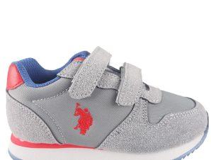 US POLO SHAN1 Sneaker 23-30 – Γκρι – US4128S9NS1/10/2/7/72