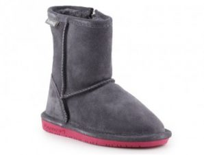 BearPaw Emma Toddler Zipper Jr 608TZ-903 Charcoal Pomberry winter shoes