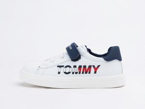 Tommy Jeans Low Cut Lace-Up/Velcro Sneaker White/B (9000090204_2879)